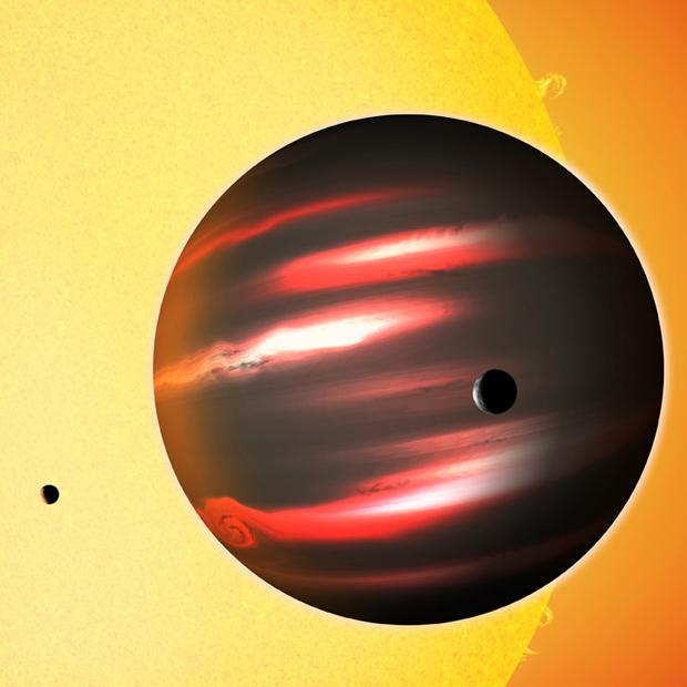 Ilustração mostra como seria o planeta TrES-2b (Foto: David A. Aguilar (CfA) / Divulgação)
