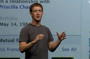 Mark Zuckerberg, CEO e criador do Facebook, apresenta novidades da rede social durante evento f8 (Foto: Reprodução)
