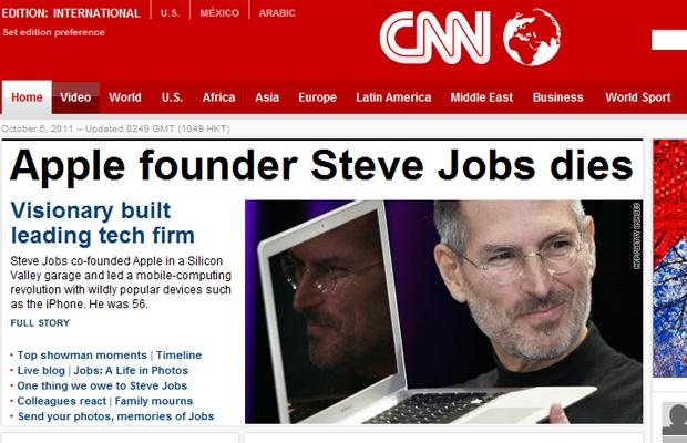 Steve Jobs CNN (Foto: Reprodução)