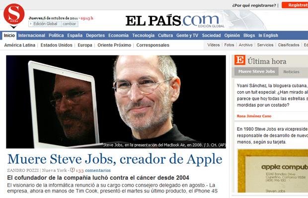 Steve Jobs El País (Foto: Reprodução)