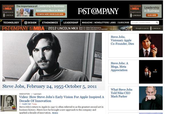 Steve Jobs Fast Company (Foto: Reprodução)