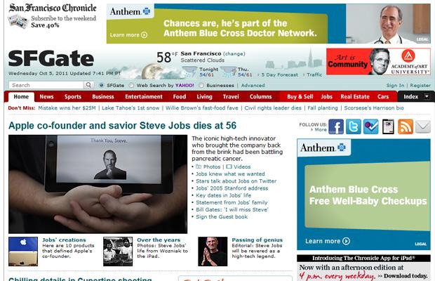Steve Jobs San Francisco Gate (Foto: Reprodução)