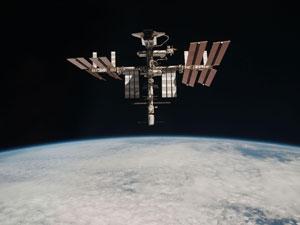 Foto da Estação Espacial Internacional registrada em 24 de maio de 2011 (Foto: ESA/NASA )