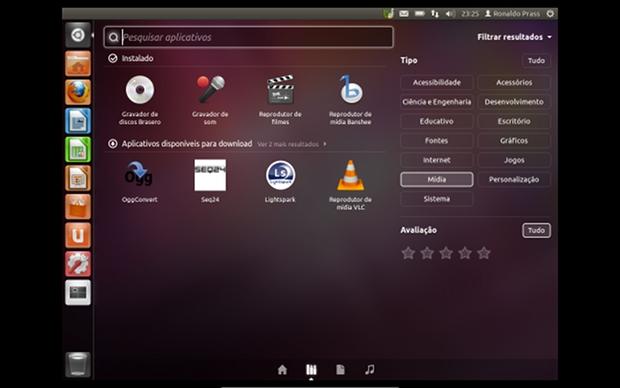 Na versão 11.10 o Ubuntu Linux recebeu melhorias na interface gráfica  (Foto: Reprodução)