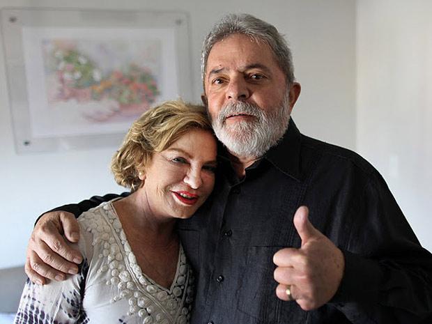 Dona Marisa e o ex-presidente Lula no Hospital Sírio-Libanês nesta terça (Foto: Divulgação / Instituto Lula)