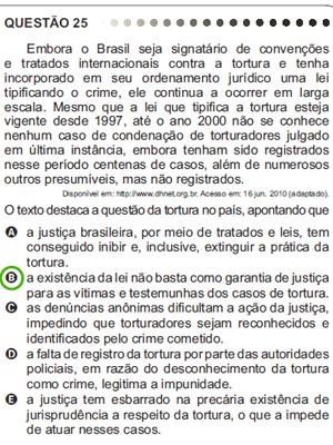 A questão 25 do Enem também foi anulada para os alunos do Colégio Christus (Foto: Reprodução)