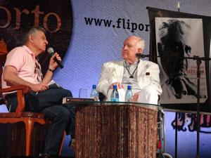 Edson Nery da Fonseca e Humberto Werneck falam sobre Gilberto Freyre (Foto: Luna Markman/G1)