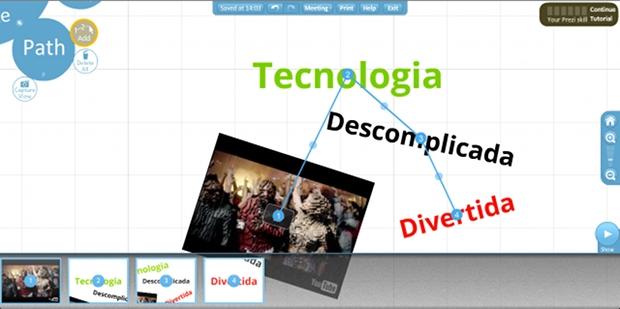 Definindo a ordem em que os elementos serão exibidos durante a apresentação (Foto: Reprodução)