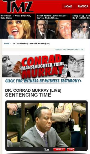 Conrad Murray aguarda a leitura de sua sentença definitiva nesta terça-feira (29) (Foto: Reprodução)