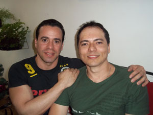 Fernando Alcântara de Figueiredo e Laci Araújo (Foto: Iara Lemos/G1)