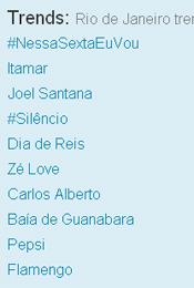 Trending Topics no Rio às 12h18 (Foto: Reprodução)