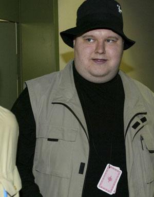 Kim Schmitz, fundador do Megaupload, em foto de 2002. Ele foi preso na Nova Zelândia a pedido do FBI por compartilhar conteúdo ilegal na web (Foto: Reuters)
