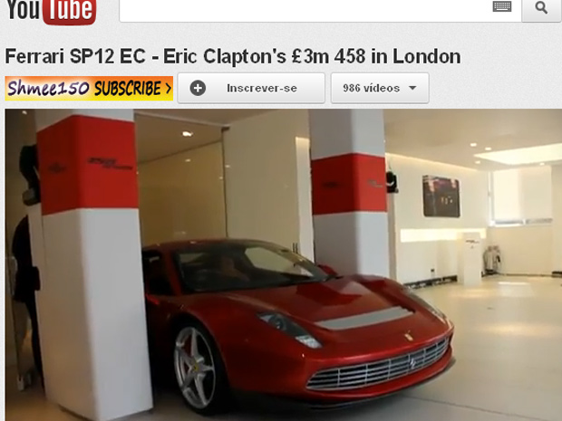 Ferrari especial para Eric Clapton foi inspirada na 512BB de 1970 (Foto: Reprodução/YouTube)