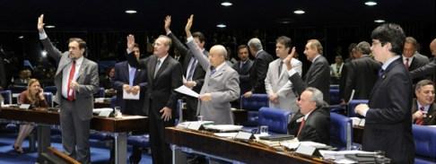 Plenário do Senado, durante votação do projeto do Executivo que cria o fundo de previdência dos servidores (Foto: Waldemir Barreto/Agência Senado)