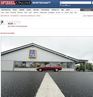 Fachada de um supermercado Aldi em Frankfurt (Foto: Reprodução/Der Spiegel)