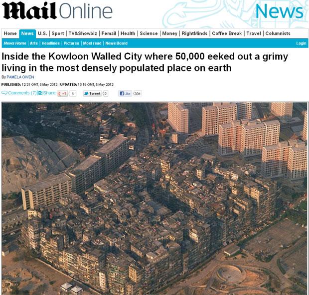 Imagens raras mostram a cidade de Kowloon Walled, demolida em 1992 (Foto: Reprodução)