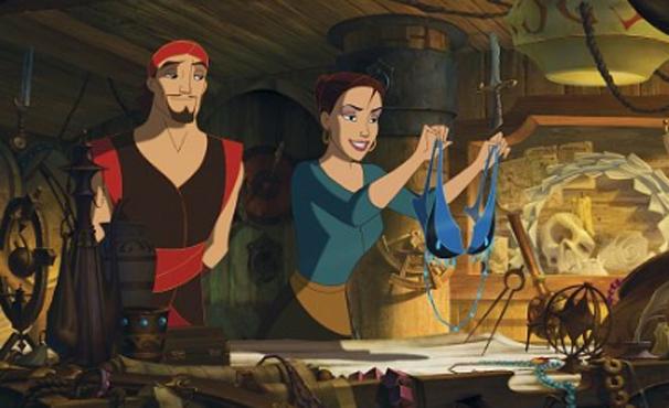 Sinbad viaja com Marina para devolver Livro da Paz (Foto: Divulgação)