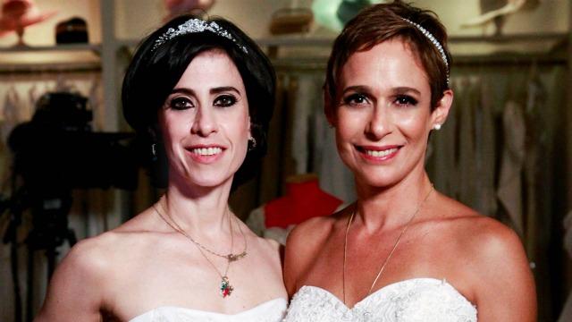 Fátima e Sueli tentam assumir o papel de noivas de seus amados