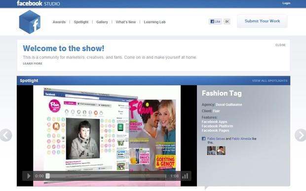 Facebook Studio (Foto: Reprodução)