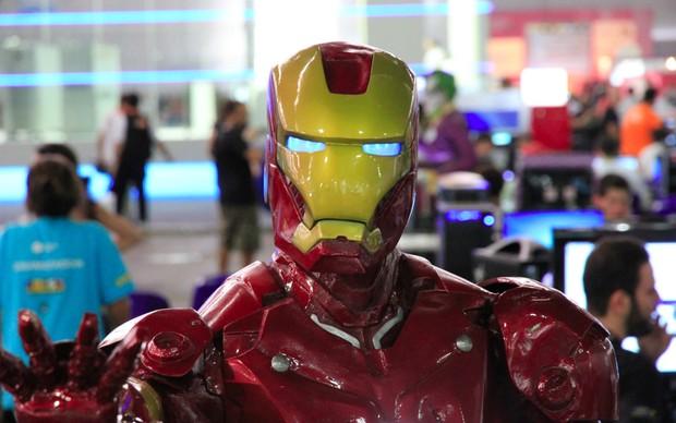 Homem de Ferro na Campus Party (Foto: Rodrigo Bastos/TechTudo)