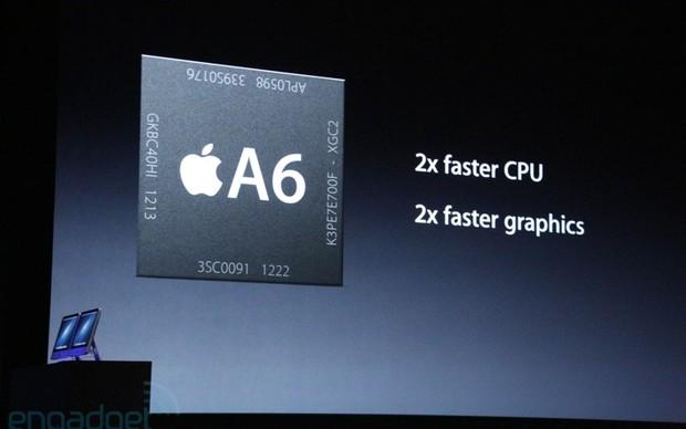 Novo processador A6 quad-core  (Foto: Reprodução/Engadget)