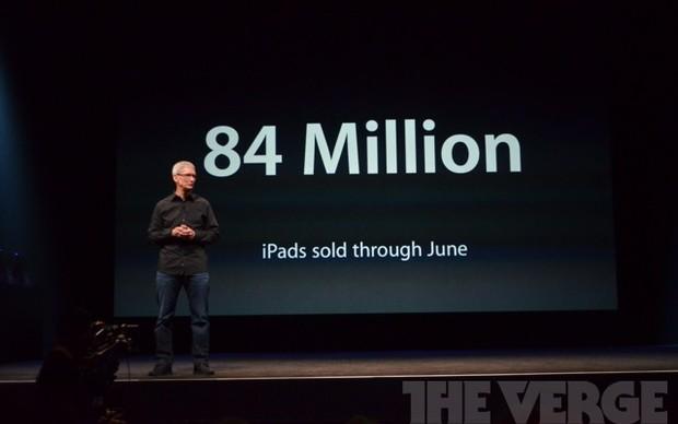 84 milhões de iPads vendidos em junho deste ano (Foto: Reprodução / The Verge)