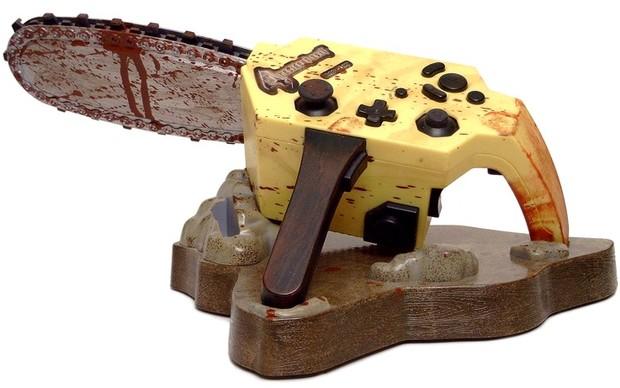 O sangrento controle-motossera de Resident Evil 4 para o Gamecube (Foto: Divulgação) (Foto: O sangrento controle-motossera de Resident Evil 4 para o Gamecube (Foto: Divulgação))