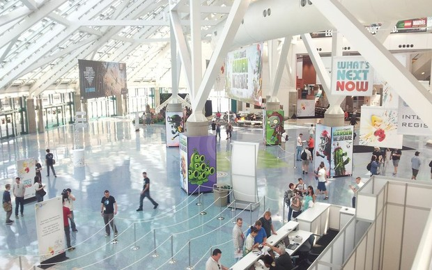 Hall de entrada do LA Convention Center, onde será realizada a E3 2013 (Foto: Léo Torres / TechTudo)
