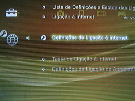 Definições de Ligação à Internet