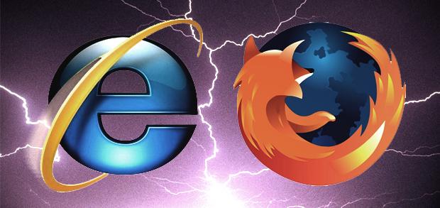 Internet Explorer x Mozilla Firefox (Foto: Arte)