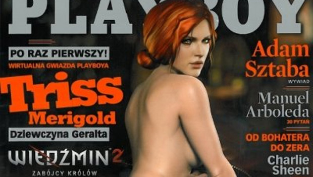Triss Merigold de The Witcher 2 nas páginas da Playboy polonesa (Foto: Destructoid)