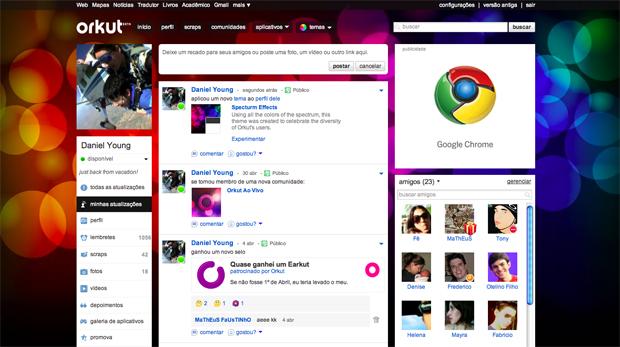 Novo tema do Orkut (Foto: Divulgação)