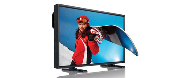 TV de 52 polegadas que dispensa óculos 3D (Foto: Divulgação)