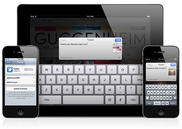 Integração do Twitter no iOS 5 (Foto: Divulgação)