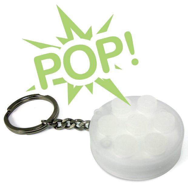 Chaveiro de plastico bolha infinito (Foto: Divulgação)