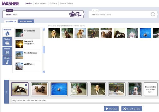 Adicionando fotos do álbum do Facebook (Foto: Reprodução/TechTudo)