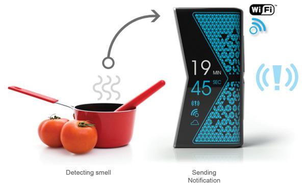 Sensor de aroma do Hourglass Device (Foto: Divulgação)