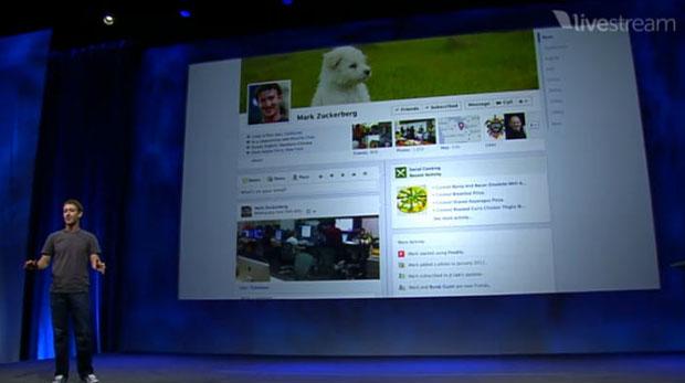 Timeline, novo conceito de perfil do Facebook.  (Foto: Produção)