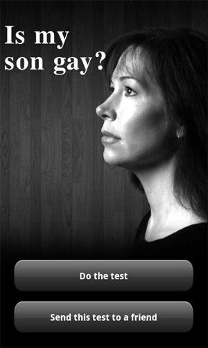 """""""Is My Son Gay?"""", polêmico app para Android  (Foto: Reprodução)"""