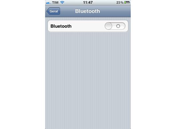 Bluetooth do iPhone (Foto: Reprodução/TechTudo)