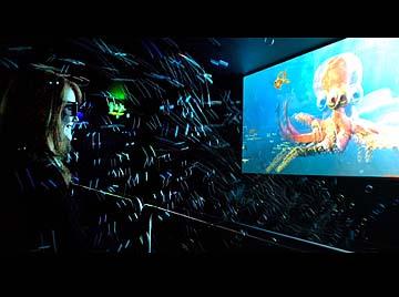 Além do 3D, em cenas como esta, acima, você poderá sentir as gotas de água (Foto: Divulgação)