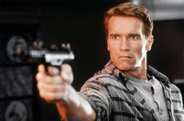 Schwarzenegger em cena do filme (Foto: Divulgação)