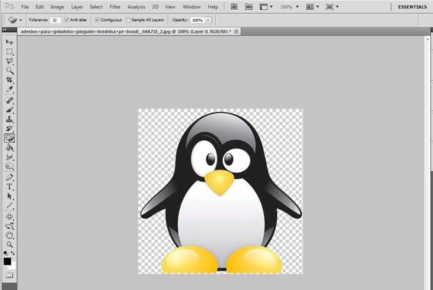 Reflexo de imagem no Photoshop (Foto: Reprodução/Isabela Catão)
