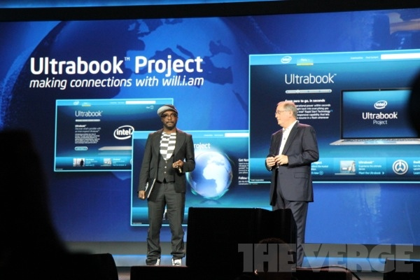 Will.i.am no Keynote da Intel na CES 2012 (Foto: Reprodução/The Verge)
