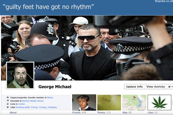 """George Michael """"não curtiu"""" a nova timeline  (Foto: Reprodução)"""