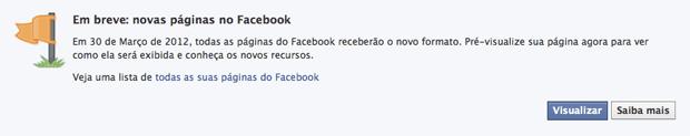 Convite Brand Page Facebook (Foto: Convite Brand Page Facebook)
