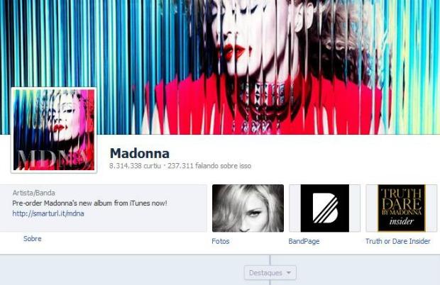 Madonna vai conceder entrevista em streaming no Facebook (Foto: Reprodução)