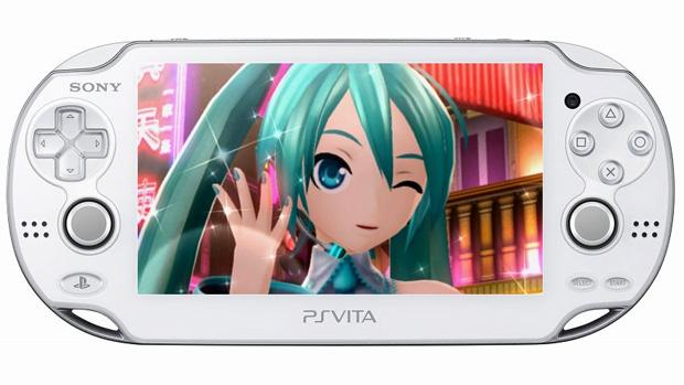 PlayStation Vita ganha modelo Crystal White no Japão e edição de Hatsune Miku (Foto: Reprodução/Rafael Monteiro)