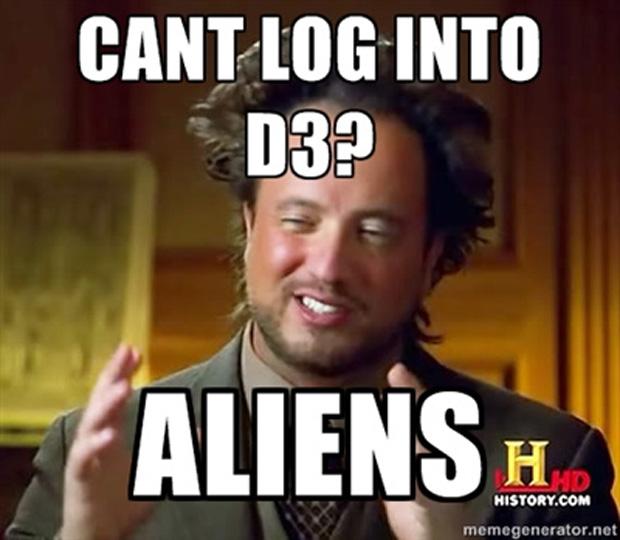 Não consegue se logar em Diablo 3? Só pode ser trabalho de aliens (Foto: IGN)