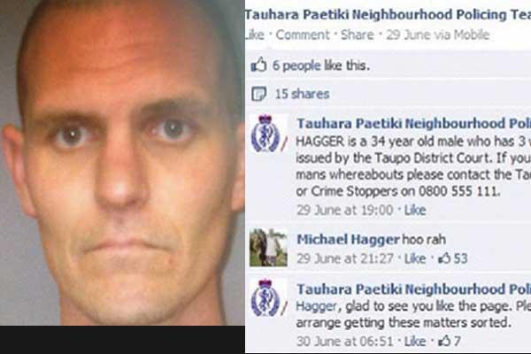 Criminoso tirou onda com a polícia no Facebook (Foto: Reprodução)